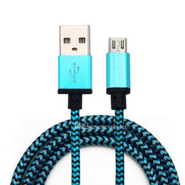 Wholesale Moto Usb - Micro USB Cable For S4 Colorful Braid USB Wire 1M 3ft 2M 6ft High Quality For Samsung Galaxy S4 Note 2 Huawei Lenovo Moto with No package