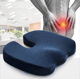 Wholesale Office Chair Back Pillow - Coccyx Orthopedic Memory Foam Office Chair pad and Car Seat pillow Cushion for Back Pain and Sciatica Relief pillow Sofa cushion