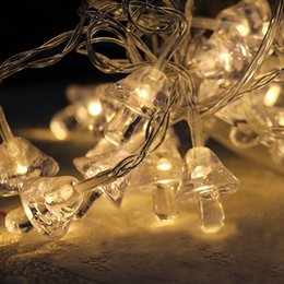 Wholesale Mini Power Style - Waterproof Decorative Lights Mini Bell Shape Battery Powered LED String Lights Xmas Ornaments 3 Color Styles To Choose