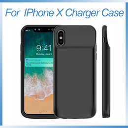 Wholesale Iphone Charging Battery - for iPhone X Battery Case 6000mAh Portable Rechargeable Extended Charger Case for iPhone X 10 Protective Battery Pack Charging Case