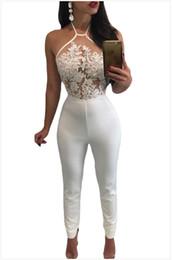 2017 vestiti lunghi dei pantaloni lunghi della tuta del Halter del  pagliaccetto del Club di notte del merletto delle nuove donne di estate di  arrivo dei ... 8241754318b