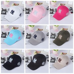 Wholesale Ny Fitted Hats Wholesale - Baseball Cap NY Embroidery Letter Sun Hats Adjustable Snapback Hip Hop Dance Hat Summer Outdoor Men Women White Black Navy Blue Visor QPZ82