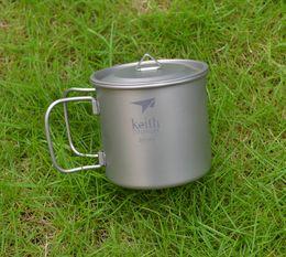 Wholesale Titanium Camping Mug - Keith Ti3240 Titanium Picnic Water Cup Mug Picnic Cookware Camping Tool Accessory 71g 350ml w  Lid KS811