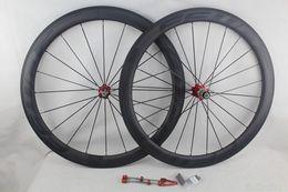 Wholesale Ud Carbon Matt Wheel - Black decals FFWD fast forward F5R full carbon bicycle wheels 50mm basalt brake surface clincher tubular road bike wheelset UD matt