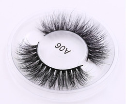 Wholesale Hand Made Labels - private label Mink Lashes 3D Mink Eyelashes Natural False Eyelashes 1 pair Handmade Fake Eye Lashes Extension for Beauty Makeup