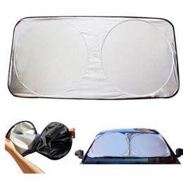 Wholesale Uv Cars - Car Cover Auto Front Rear Window Foils Sun Shade Car Windshield Visor Cover Block Front Window Sunshade UV Protect Car Window Film