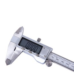 Wholesale Digital Lcd Caliper Vernier Gauge - 2017 High Quality 150mm 6 inch LCD Digital Electronic Stainless Steel Vernier Caliper Gauge Micrometer Measuring Tool