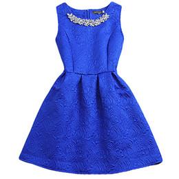 Wholesale Grown Woman - 2016 Fashion Brand O-neck Sleeveless Vestidos Solid Ball Grown Women Dress Elegant Women Vestido Slim Bottoming Dresses 6 Colors