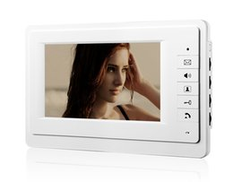 Wholesale Home Security Set - white Luxury Home Color Video Take Picture 7inch lcd monitor video doorphone intercom home security access system indoor set