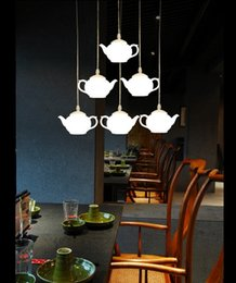 2019 iluminação legal para sala de crianças Lâmpadas de iluminação led iluminação acrílico pingentes lâmpada bule xícara de luz