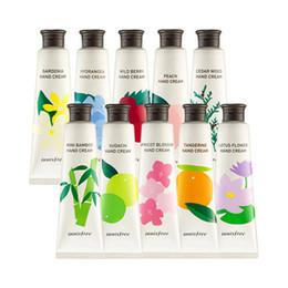 Wholesale Skin Whitening Cream Korea - Wholesale- Original Korea Jeju Perfumed Hand Cream Moisturizing Anti-aging Chamomile Hand Cream (Dry or Damaged Skin) Randomly Send 1pcs