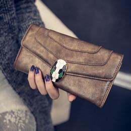 Wholesale Envelope Small Bag - 2017 Hot Selling Women Wallet High Grade Fashion Snake Bag Zipper Wallets Coin Purse Handbag Brand Long Purse New Brand Handbags