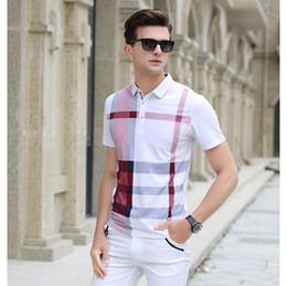 Wholesale business clothes summer - Men Polo Shirt Slim Fit Short Sleeve Men Clothing Brand Business & Casual Summer Mens Polo Shirts XZ-039
