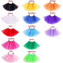Wholesale Satin Ruffle Baby Dress - 2017 Baby Girls Childrens Kids Dancing Tulle Tutu Skirts Pettiskirt Dancewear Ballet Dress Fancy Skirts Costume Free Shipping