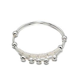 Wholesale Bead Jewelery - Latest Design Vogue Jewelery Bangle Fashion Style Woman Charm Luck Beads Bangle Jewelry Silver Bangle For Women BC00331