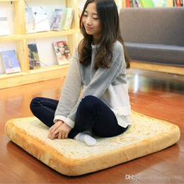 Wholesale Wholesale Sponge Material - Toast Seat Cushion Square Bread Toast Sponge Back Cushions With Inner Filled Soft Material Polyester Pillow For For Adult 33hx H1 R