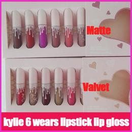 Wholesale Matt Lipsticks - Kylie The Birthday Collection MATTE Liquid lipstick 6pcs set I want it ALL 2 Colors By Kylie Jenner valvet & matt lip gloss
