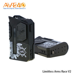 Wholesale Race Batteries - Limitless Arms Race II Vape Box Mod fit Dual 18650 Battery 200w Out Put Update Limitless LMC 200W 100% origina Retail