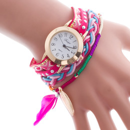 Wholesale Leather Bracelets Decorations - International standing around bracelet watch fashion lady diamond watches in circles decoration ladies watch quartz watch
