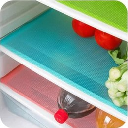 Wholesale Silicone Pads Pc - Wholesale- 4 pcs set 30cm*44cm Fashion Refrigerator pad Antibacterial antifouling Mildew Moistureproof Pad Refrigerator Waterproof Mats