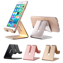Wholesale Tablet Stander - Mobile Phone Stand Holder Universal Aluminum Metal Phone Holder Stander for iPhone Samsung Tablet PC Desk Phone Holder Stand for Smartphone