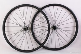 Wholesale Mtb Wheelset 29er - 29er MTB XC race mountain bike carbon wheels depth 25mm hookless 3K matte 29inch wheelset width 30mm
