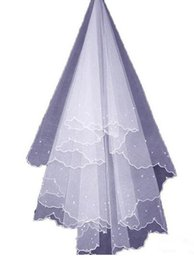 Wholesale Ivory Pearl Bridal Veils - 2017 Long Wedding Veils Exquisite Cheap Bridal Veil One Layer With pearl Hot Wedding Accessories for Bridal