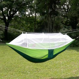 Wholesale Mosquito Nets Hammock - Portable Travel Camping Hammock Parachute Fibric Camping Hammocks Mosquito Net Portable Bed About 260Cm*140Cm For Camping For Family