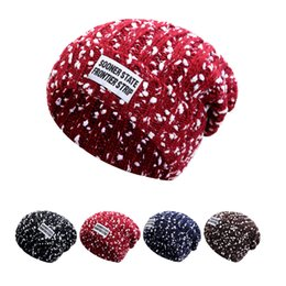 Wholesale Garden Clips - Hot Sales bursts style of large cloth standard clip snowflake wool hats cap for men and women warm winter hat cap knitted hat