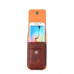 Wholesale Wallet Bag Chinese - Wallet Case Universal Leather CellPhone Bag Outdoor Sport Phone Pouch Hook Loop Belt Holster For Smart Phone Between 4.7-6.3 inch