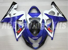 Wholesale k4 fairings - New ABS motorcycle Fairing Kits 100% Fit For Suzuki GSXR600 GSXR750 2004 2005 600 750 04 05 K4 bodywork set hot sell black white blue