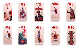 Wholesale Iphone Superhero Cases - Superhero Deadpool TPU Rubber Case For iPhone 7 7plus Shell Back Cover Luxury Soft Phone Cases For Samsung S8