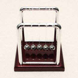 Wholesale Funny Desks - Wholesale- Funny Development Educational Desk Toy Gift Newtons Cradle Steel Balance Ball Physics Science Kids Learning Math Toy