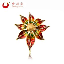 Wholesale High End Fashion Clothing Wholesale - The 2017 summer new fashion color glaze flower brooch alloy high-end clothing accessories free distribution
