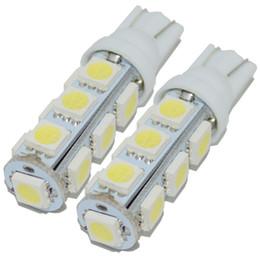 Wholesale Super Bright Bulb Car - 2pcs Hot sales Super Bright T10 W5W 194 5050 13 SMD LED Bulb for Auto Car Reserve Light Lamp Bulbs