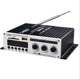 mp3 king Скидка DHL 10 шт. автомобиль Lepy HI-FI цифровой V9S FM цифровой усилитель мощности пульт дистанционного управления, U диск / SD дизайн