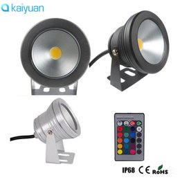 Wholesale Rgb Led Floodlights - 10pcs 12V or 110V 220V 10W RGB Underwater IP68 LED light Flood lamp Pool Light Aquarium Fountain bulbs Floodlight Warm White Wash Spot lamp
