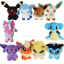 Wholesale pokemon stuffed animals eevee - 8 Style Poke Plush Toys Umbreon Eevee Espeon Jolteon Vaporeon Flareon Glaceon Leafeon Animals Soft Stuffed Dolls Kids Children Toys