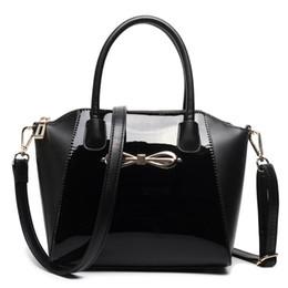 Wholesale Celebrity Hobo - Wholesale- New Women Designer Celebrity Plain Black Handbag Patent Leather Messenger Cross Body Shoulder Satchel Bag Small E1639 BK