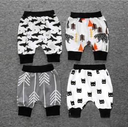 Wholesale Wholesale Cartoon Leggings - 2017 ins Boys Girls Baby Childrens Shorts Pants Summer Cotton Harem Pants Cartoon Batman Toddler Kids Leggings Pants Boutique Clothes
