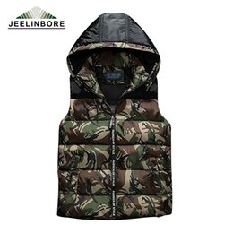 Wholesale Camouflage Waistcoat - Wholesale- 2017 Mens & women Spring Autumn clothing fashion casual vest Men camouflage vests Men Hooded sleeveless jacket waistcoat