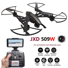 Wholesale Jxd Wifi - JXD Quadcopter FPV Drons With Camera HD WIFI Quadrocopter camara Drones Com Camera Headless Mode Rc Helicoptero +NB