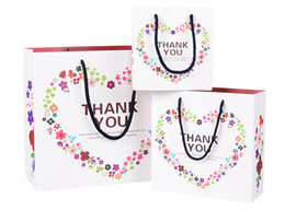 спасибо за рождественский подарок Скидка Цветочные сердца подарочные пакеты с ручками