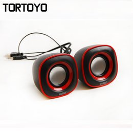 Wholesale Multi Laptop Stand - Wholesale- A Pair Mini Multi Media Music Player 3D Surround Subwoofer Stereo Bass USB Speaker Loudspeaker for PC Computer Laptop Notebook
