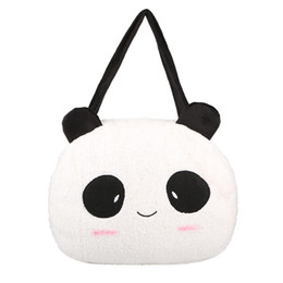Wholesale Animal Ear Phones - Wholesale- xiniu Panda Backpack Cute Bag Purse Animal Soft Ears Pom Poms Furry Zippers Bag Hot Sale Fashion Casual Hard Solid Backpack