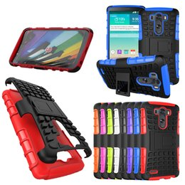 Wholesale Rubbers Lg Optimus - Heavy Duty Armor Shockproof Hybrid Hard Rubber Case for LG V10 V20 K10 K7 g2 G4 G3 Stylus LG Leon C40 C70 G Flex 2 F340 Optimus L70