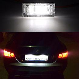 Wholesale Lighting E46 - A Pair 18 SMD WHITE LED LICENSE PLATE LIGHT For 98-05 BMW E46 325i 328i 330i 4D TOURING