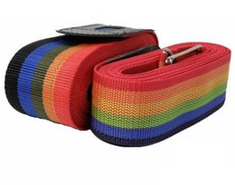 Wholesale Luggage Bands - Wholesale-4.2 Meters Super Long Strong Cross Luggage Strap Belt Travel Abroad Baggage Suitcase Packing Rope Band Webbing Bag Accessories