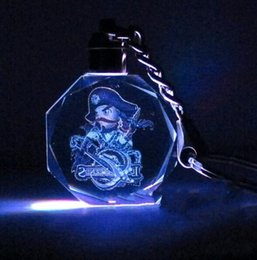 Wholesale Pack Women Game - Cartoon Anime Figure League of Legends Game Collection LOL LED Crystal Keychain Key Chain Ring Gift Box Packing 111 Styles Available