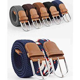 0eb49895041 Fashion Men and Women s Canvas belt elastic stretch canvas belt pin buckle  Knitted Belt braided belts young students High Quality 310002